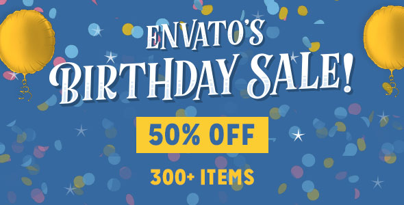 Envato big promotion for birthday - Discount up to 50