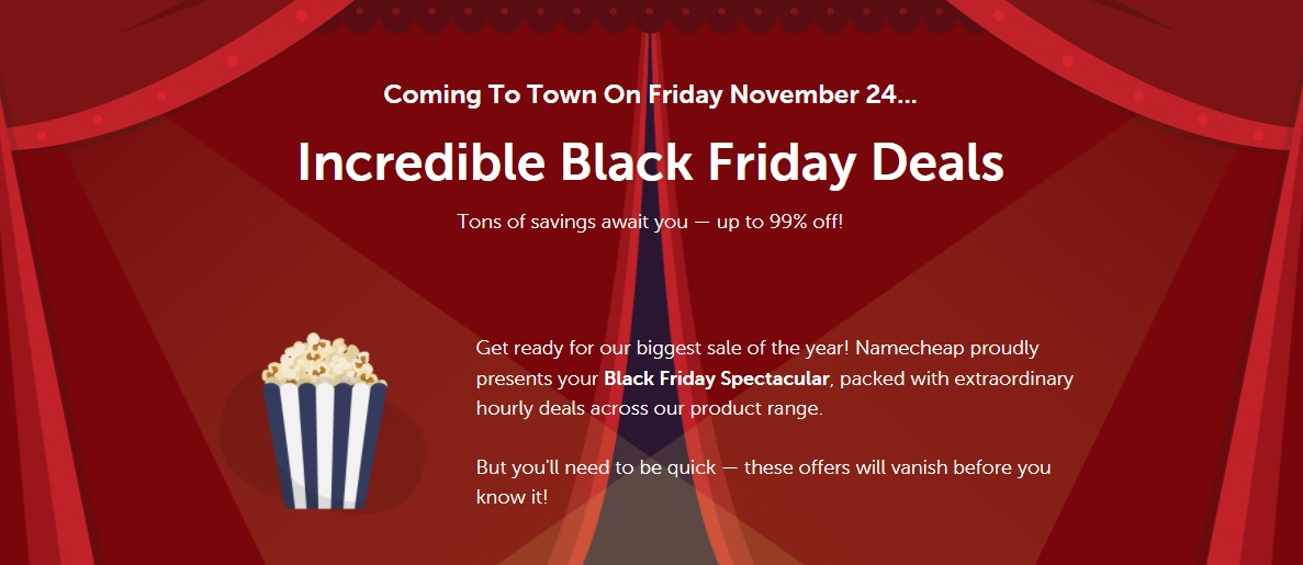 e7cb73740bcf Accordingly, on Black Friday – 24/11/2017, Namecheap will offer up to 99%  discount on Domain Name, Hosting, SSL Certificate and Private Email  services.